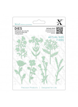 Large dies - Meadow flowers