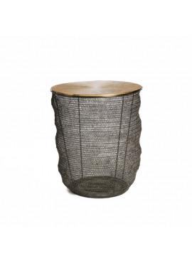 SIMLA SIDE TABLE METAL ALUMINIUM GOLDEN TOP