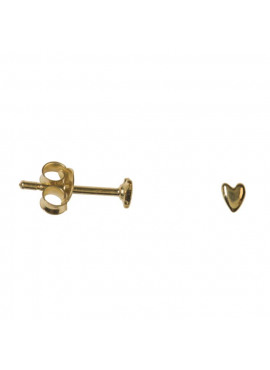 Asymmetric shiny mini heart stud