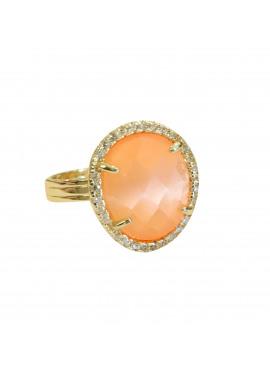 Mini bohemian ring orange