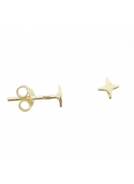 Shiny small cross star stud