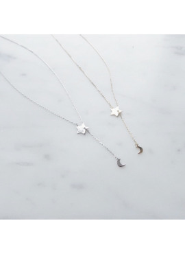 Star - Moon necklace