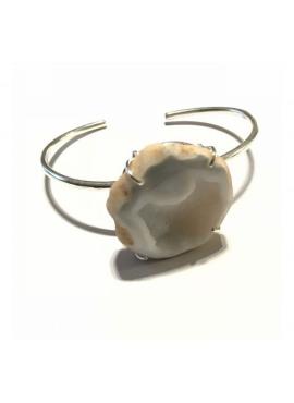 Bohemian bracelet silver white tobasco stone