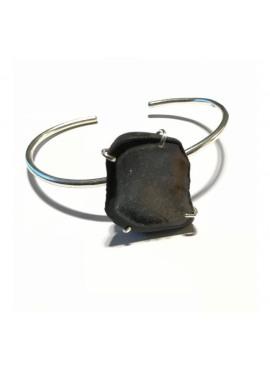 Bohemian bracelet silver grey tobasco stone