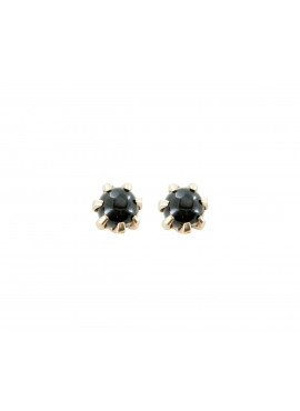 Black onyx rough stud
