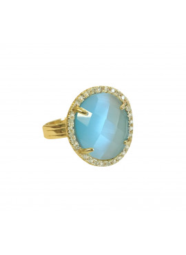 Mini bohemian ring blue
