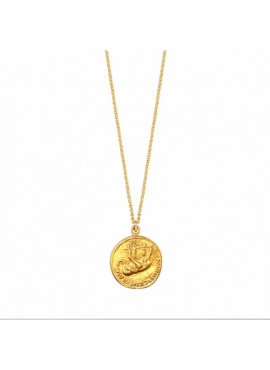 Coin elephant necklace
