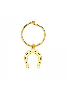 Hoop horse shoe gold