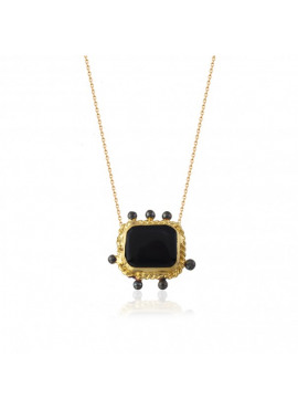 Necklace Black Onyx Square
