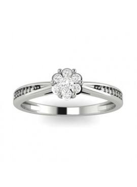 Ring in wit goud 18 karaat met briljant 0.14 karaat