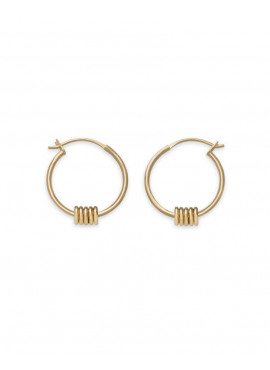 RFJ0040 IGGY MULTI HOOP SMALL GOLD
