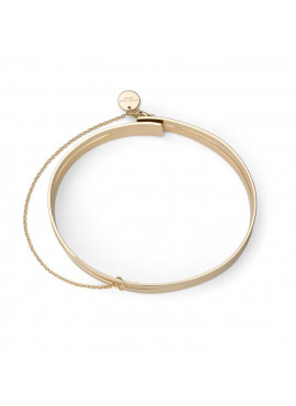 IGGY DOUBLE BAR BANGLE GOLD