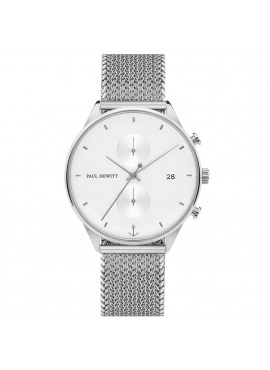 CHRONO WHITE SAND STEEL WOVEN MESH SILVER 190mm