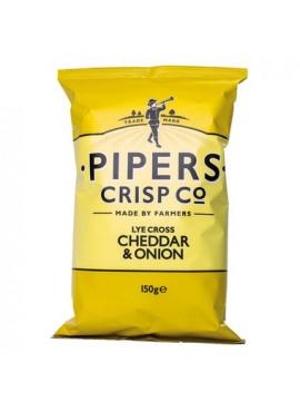 Pipers Crisp Co, cheddar & ajuin, 150gr