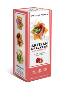 Artisanale crackers met tomaat 100g