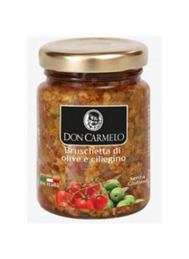 Bruschette met olijven en kerstomaten 100g