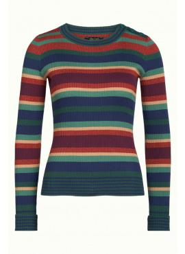 Roundneck Sweater Havana Stripe