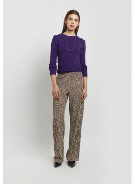 Straight Pants Leopard
