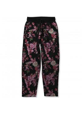 P184214 Pants Black Flower