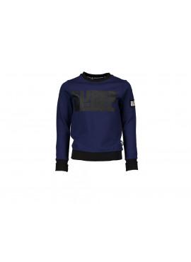 R808-6306-110 Sweater Super Rebel blauw/zwart
