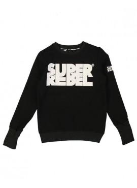 R808-6306-099 Sweater zwart Super Rebel