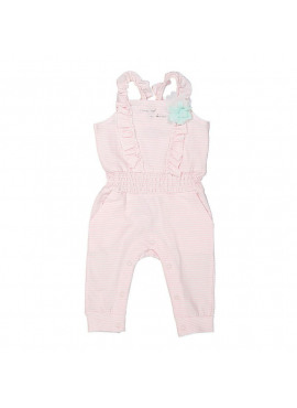 Jumpsuit Light Pink Stripe