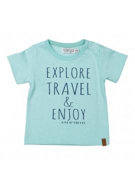 T-shirt Light Aqua Green Explore