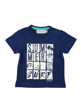 T-shirt Indigo Blue Melee Summer Surf