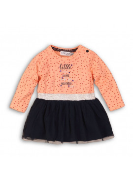 32B-32279 Baby dress huggs and cuddles navy/peach