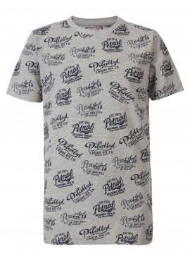 T-shirt SS R-Neck 9038 light grey melee