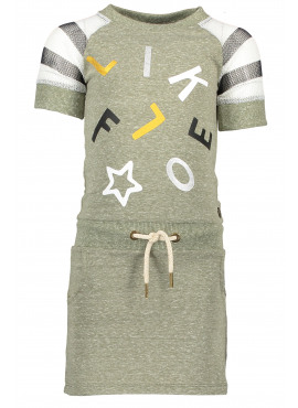 Dress with sporty mesh slv