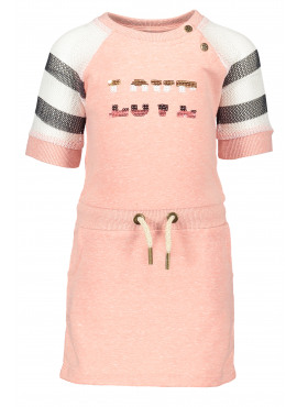Jersey dress with sporty mesh slv