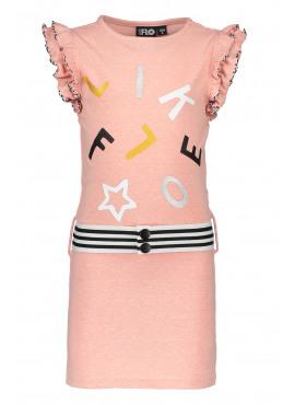 Slub jersey ruffle dress