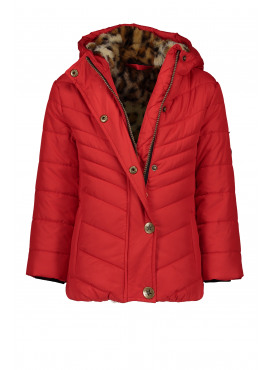 F908-5209-299 Flo girls hooded jacket fancy quilting red