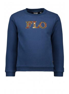 F908-5327-140 Flo girls sweater Flo blue