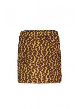 F908-5713-435 Flo girls dot jacquard skirt camel