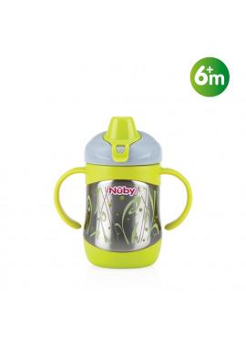 Inox thermobeker met zachte drinktuit 220ml 6m+