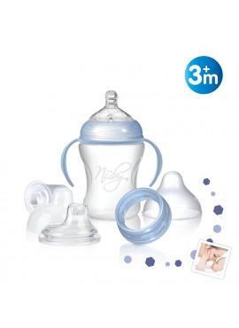 Evolutief flesje met afneembare handvatten 240ml 3m+