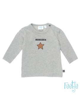516.01267 Longsleeve Little Lucky Star grijs melange