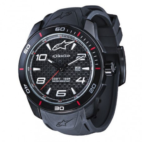 ALPINESTARS TECH WATCH 3H STEEL SILICON STRAP
