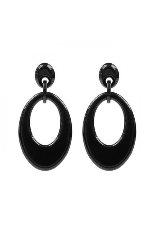 Oval Earrings - Black