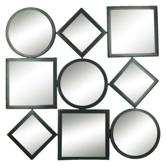 Assemblage decoratieve spiegel metaal 45 5x1 5x45 5cm product detail assemblage - Spiegel orangerie ...