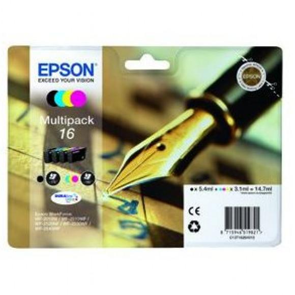 EPSON Cartouche 16 Noire + Tricolore Plusieurs