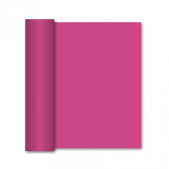 GALA Chemin De Table Uni Framboise Sensation De Lin 10mx40cm Violet/rose