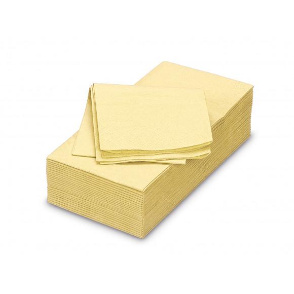 FIESTA Serviette Dîner Ecru Uni En Papier Rectangulaire 40x40cm 50 Pièces Blanc