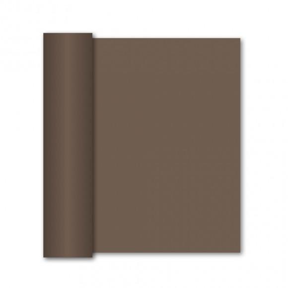 GALA Chemin De Table Uni Cacao Sensation De Lin 10mx40cm Brun
