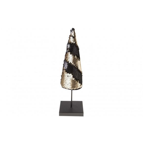 AVA selection Kerstboom Kegel 11x11x41cm Zwart/Goud Paillettes Goud