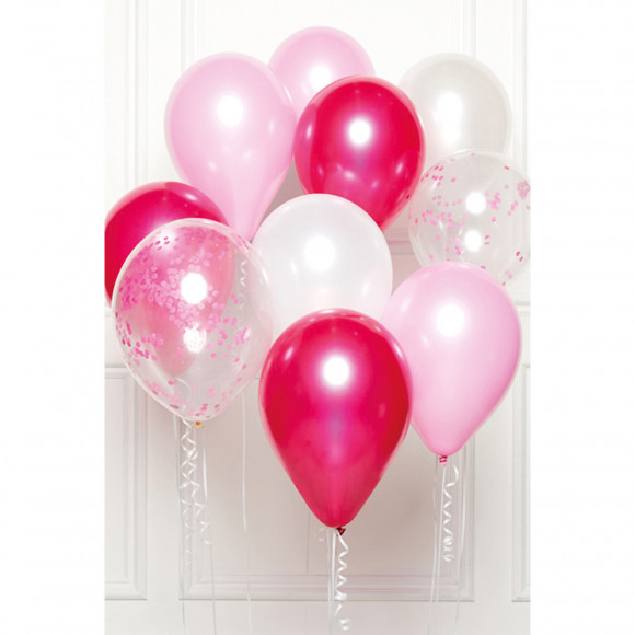 AVA selection DIY Ballonboeket Roze (10 Ballonnen) Paars/Roze