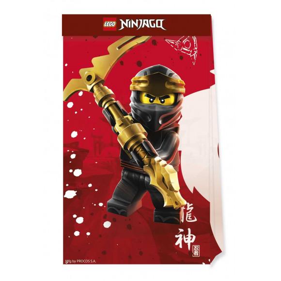 AVA selection Verjaardagszakjes Lego Ninjago Papier 4 Stuks