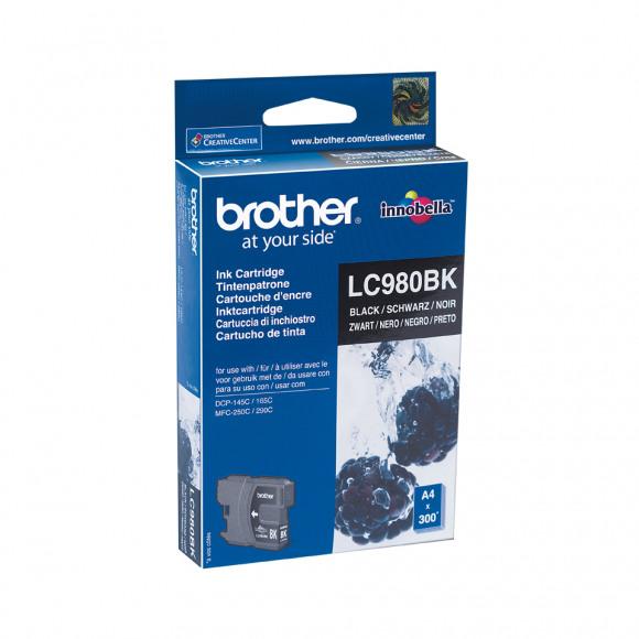 BROTHER Cartridge  Zwart Lc-980 Zwart/grijs